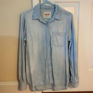 Mossimo Supply Co Button up faux denim top